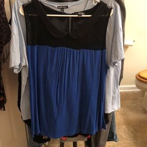 Women's plus size (2x) a.n.a. Peter Pan collar top